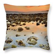 Spain Africa And Gibraltar In One Shot Throw Pillow