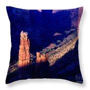 Spider Rock Sunset Throw Pillow