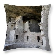 Spruce Tree House Dwellings Throw Pillow