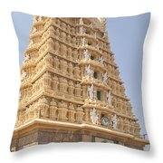 Sri Chamundeswari Temple Throw Pillow