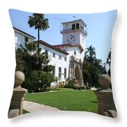 Santa Barbara Courthouse Throw Pillow