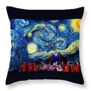Starry Night In Bethlehem Throw Pillow