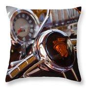 Steering Mercury Throw Pillow