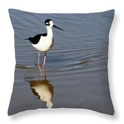 Stilt Looking At Me Throw Pillow