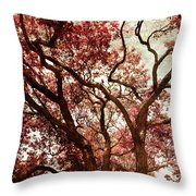 Strawberry Leaves  Throw Pillow