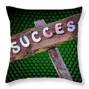 Success Sign Post Throw Pillow