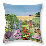 Summer From The Four Seasons Throw Pillow