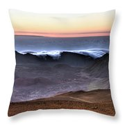 Sunrise At Haleakala Crater, Maui Throw Pillow