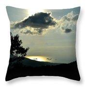 Sunset At Five Islands Throw Pillow
