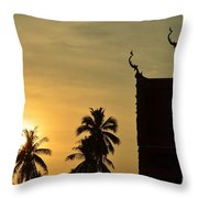 Sunset In The Tempel Throw Pillow