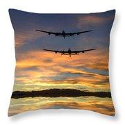 Sunset Lancasters Throw Pillow