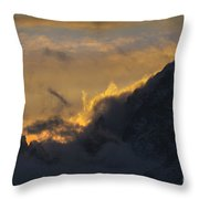 Sunset Peaks Throw Pillow