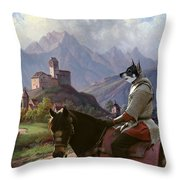Swedish Elkhound - Jamthund Art Canvas Print Throw Pillow