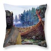 Swedish Lapphund Art Canvas Print  Throw Pillow
