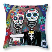 Te Amo Wedding Dia De Los Muertos Throw Pillow