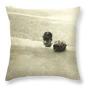 Ted Williams Throw Pillow by Diane Diederich