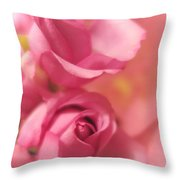 Tenderness Pink Roses 1 Throw Pillow