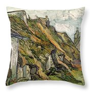 Thatched Cottages In Chaponval Throw Pillow