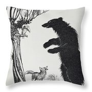 The Bear And The Fox Throw Pillow