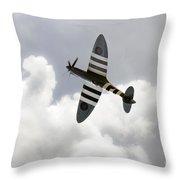 The Blue Spitfire Throw Pillow