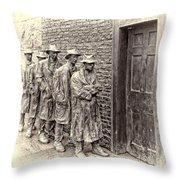 The Bread Line Sculpture Throw Pillow