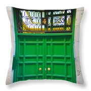 The Doors Of Madrid Spain Xii Throw Pillow