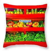 No Squeezing The Fruits Throw Pillow