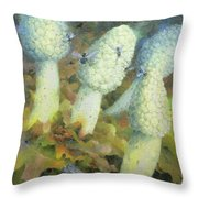 The Green Man With Fly Agaric Throw Pillow