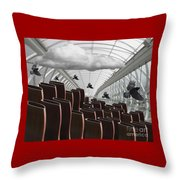The Hall Of Giants Throw Pillow