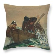The Herring Net Throw Pillow