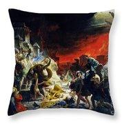 The Last Day Of Pompeii Throw Pillow