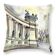 The Millennium Monument In Budapest Throw Pillow