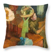 The Millinery Shop Throw Pillow