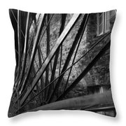The Old Mill-black And White Throw Pillow