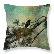 The Old Pine Tree Throw Pillow