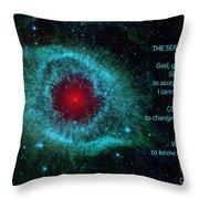 The Serenity Prayer Helix Nebula. Throw Pillow
