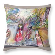 The Show Goes On Throw Pillow