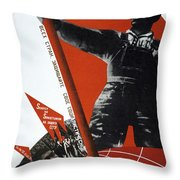 The Ussr Is The Elite Brigade Of The World Proletariat 1931 Throw Pillow