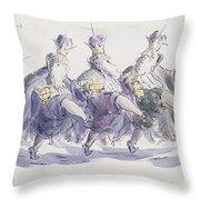 Three Kings Dancing A Jig Throw Pillow