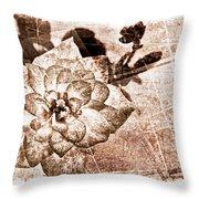 Thumbelina Rose - Miniature Rose - Digital Paint II Throw Pillow