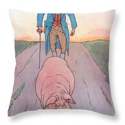 To Market To Market Throw Pillow by Leonard Leslie Brooke