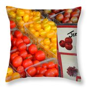 Tomatoes Nj Special Throw Pillow