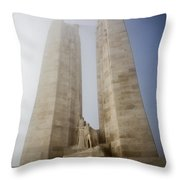 Towers In The Mist Throw Pillow