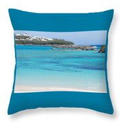 A Vision Of Turtle Bay, Bermuda Throw Pillow