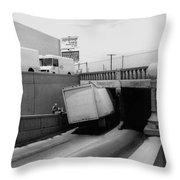 6th Street Underpass Truck Accident Tucson Arizona 1984 Throw Pillow