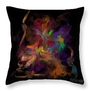 Veils Of Many Colors Throw Pillow
