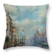 Venice At Noon Throw Pillow