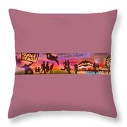 Venice Beach To Santa Monica Throw Pillow