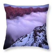 View Across The Caldera Taburiente Throw Pillow