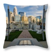 View Of Charlotte Skyline Throw Pillow